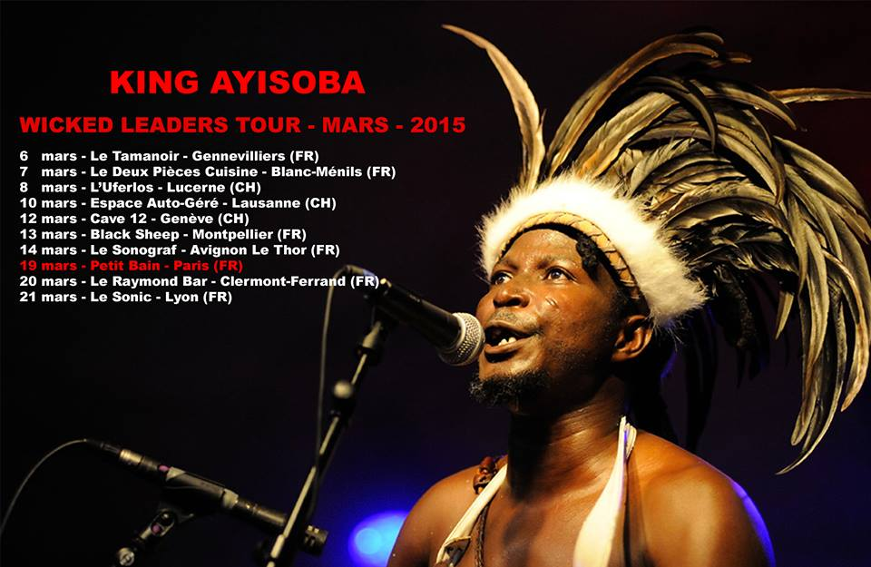 Affiche tournée King Ayisoba en France