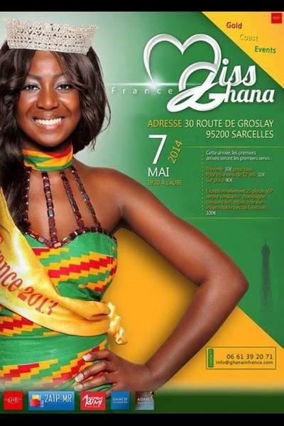 Annonce Miss Ghana France 2014