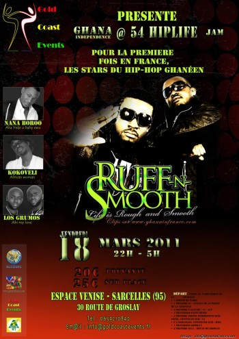 Poster of Ruff-n-Smooth concert in France
