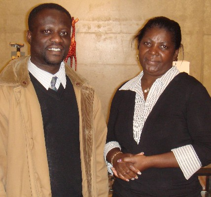 Mary Amoako and Alfred Ohene-Akonor
