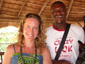 Lisa, founder of the NGO, and Marcel Desailly